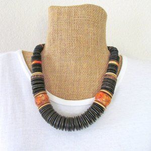 Jewelry - Big Chunky Beaded Boho African Tribal Necklace